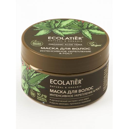 ECL GREEN Маска для волос Интенсивное укрепление & Рост Серия ORGANIC ALOE VERA, 250 мл