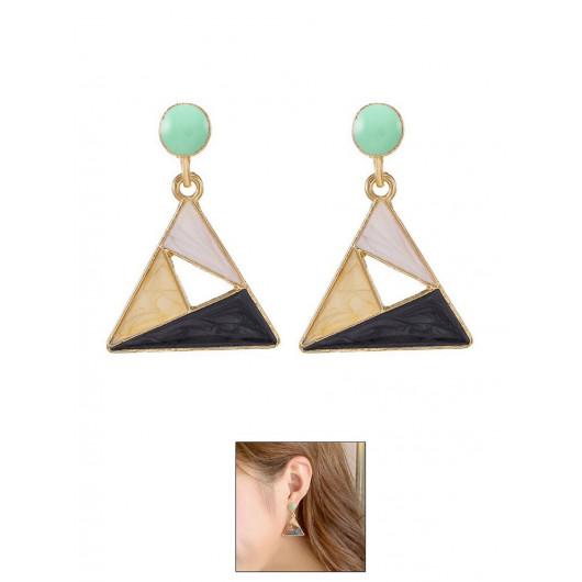Серьги / серьги бижутерия / сережки / бижутерия / треугольник / камни