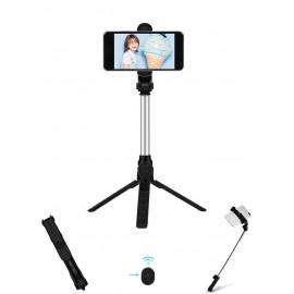 Селфи палка для смартфона / держатель для смартфона / монопод с Вluetooth пульт / штатив для мобильного телефона / тринога / раздвижная ручка